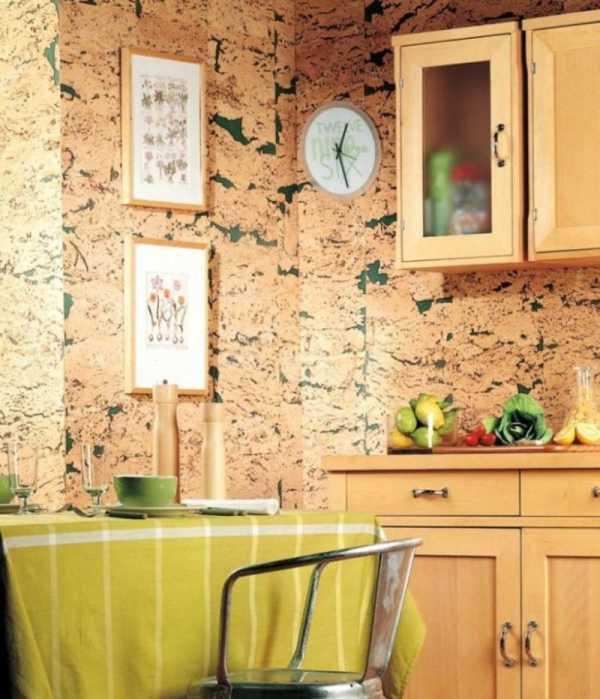 Пробковое покрытие для стен: 38 фото интерьера с обоями или полотном из пробки