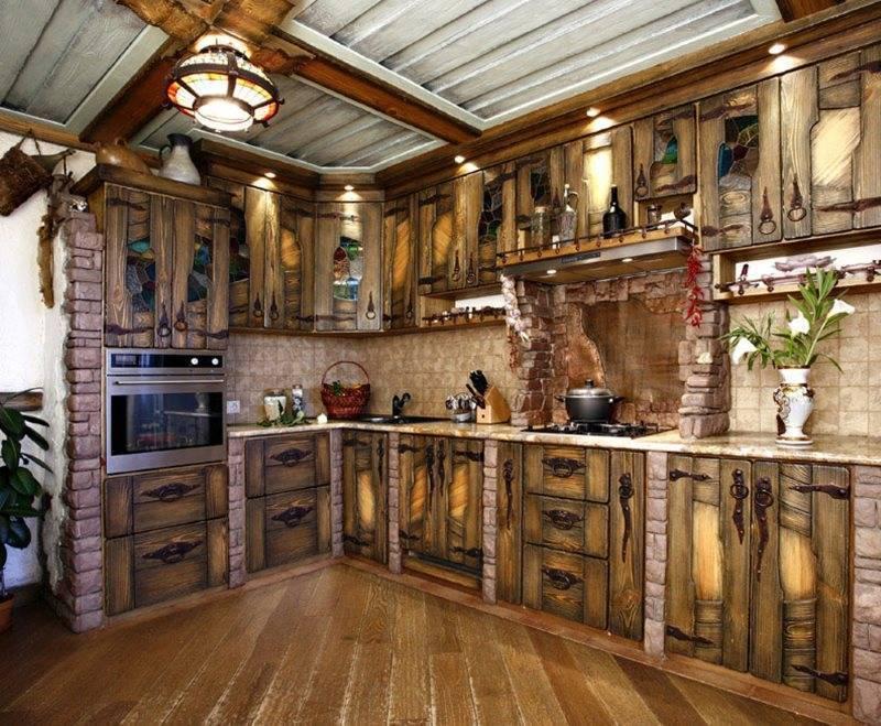 Кухни под старину в стиле ретро (31 фото)