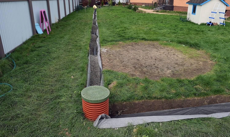 Дренаж участка на глинистых почвах своими руками