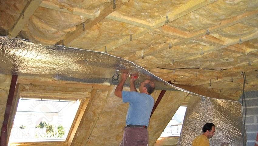 Утепление перекрытия холодного чердака: чем утеплить чердачное перекрытие, минвата для частного дома, укладка утеплителя