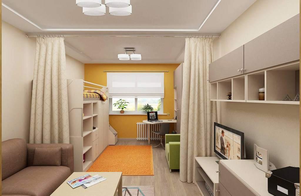Как зонировать комнату для родителей и ребенка: фото идеи, спальня и детская, гостиная и детская в одной комнате