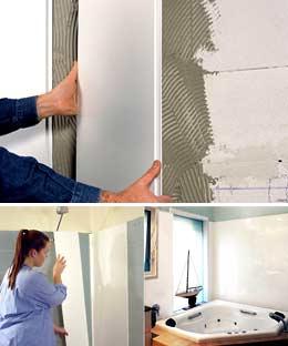 Используем жидкие гвозди для облицовки помещений панелями пвх