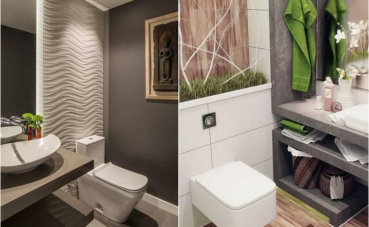 Обои для туалета — какие выбрать? Обзор модных новинок