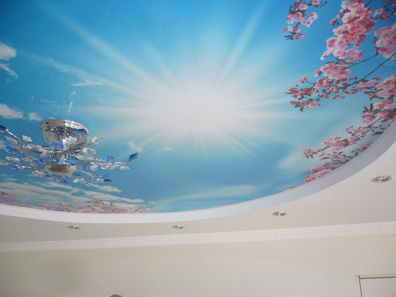 Натяжные потолки 3д, описание конструкций