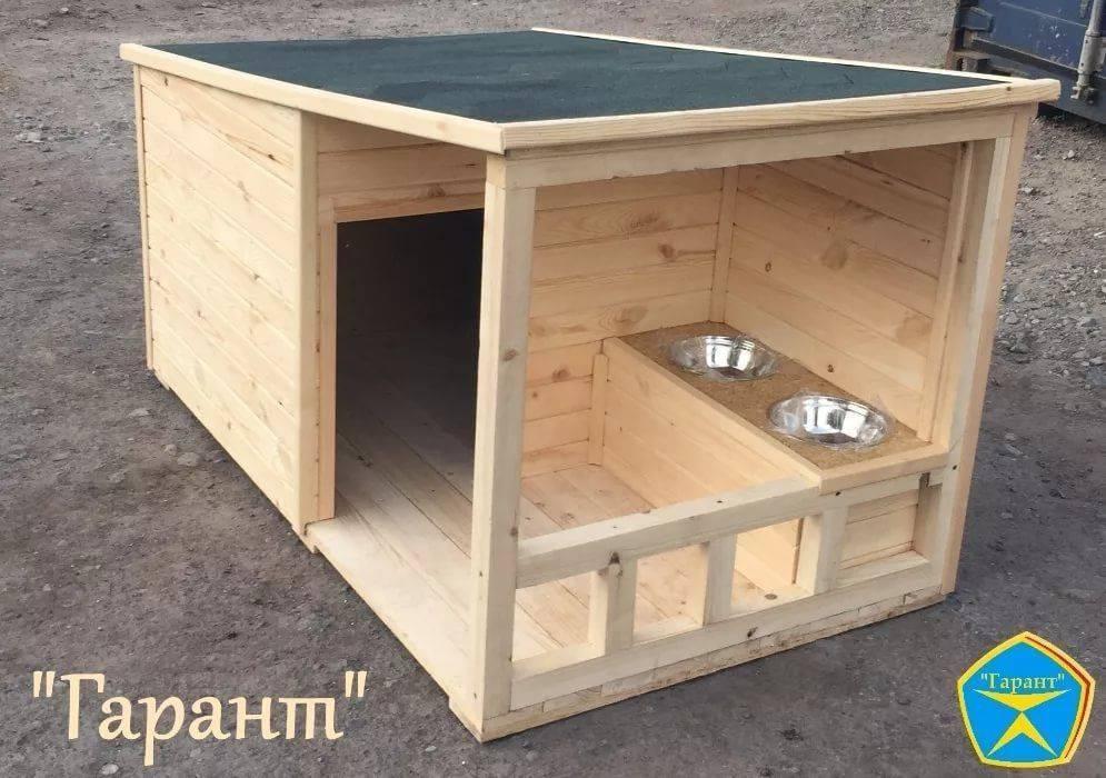 Конура для собаки своими руками: чертежи и размеры деревянной будки для собаки