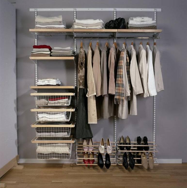 Системы хранения вещей для гардеробной конструктор: элементы и модули ikea, стеллажи икеа