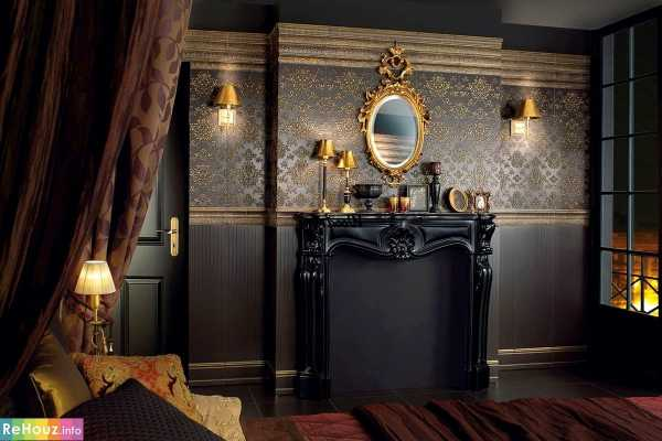 Современный готический стиль в интерьере квартиры, красивые дизайны и предметы для украшения комнаты