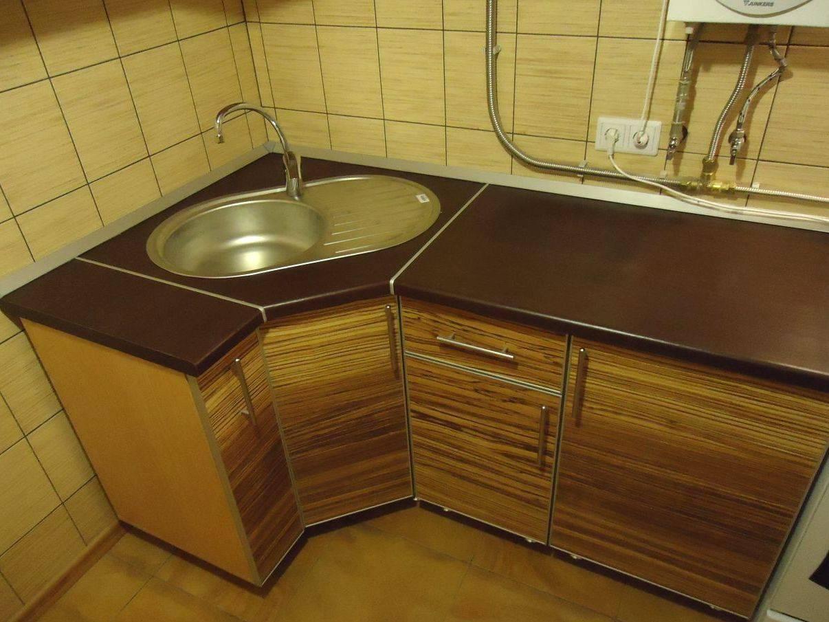 Угловая тумба под мойку для кухни: размеры, формы, материалы, монтаж, советы, фото.