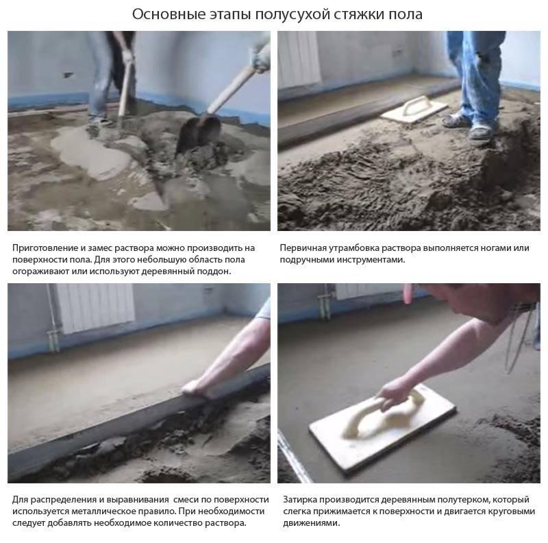 Механизированная стяжка: выполнение стяжки с помощью строительных машин