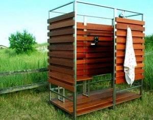 Деревянный душ на дачу своими руками: разновидности, изготовление и уход