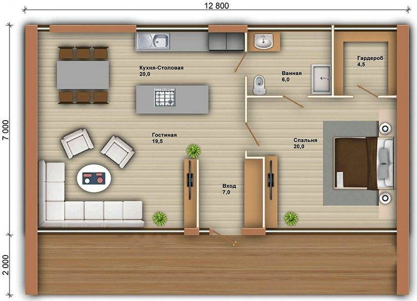 План дома из бруса: видео-инструкция по монтажу своими руками, планировка, фото и цена