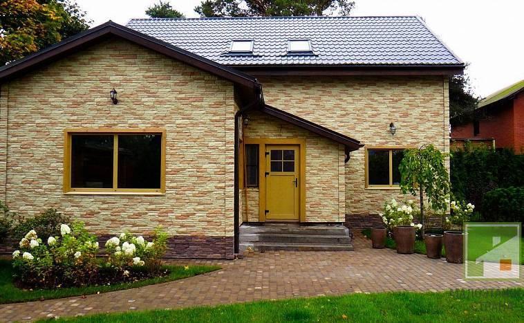 Облицовка дома: обкладка деревянного дома облицовочным кирпичом, фото
