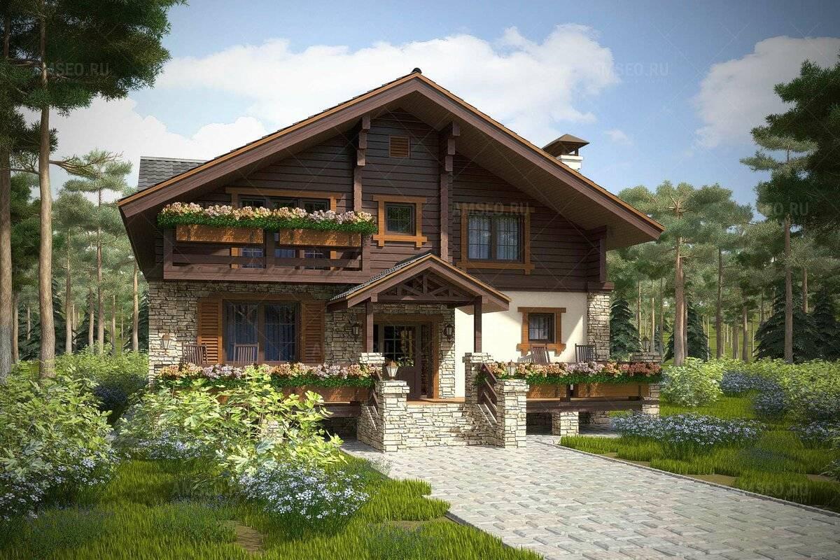 Дом в стиле шале (97 фото): проекты и строительство загородного одноэтажного коттеджа а «альпийском» направлении, комбинированные варианты в интерьере