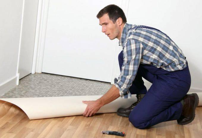 Настил линолеума в квартире и доме: подготовка пола, раскрой, крепление