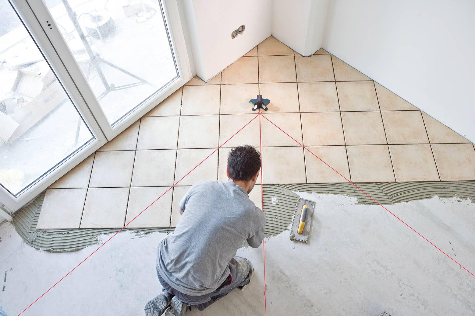 Диагональная укладка плитки на пол в ванной: пошаговый мастер-класс