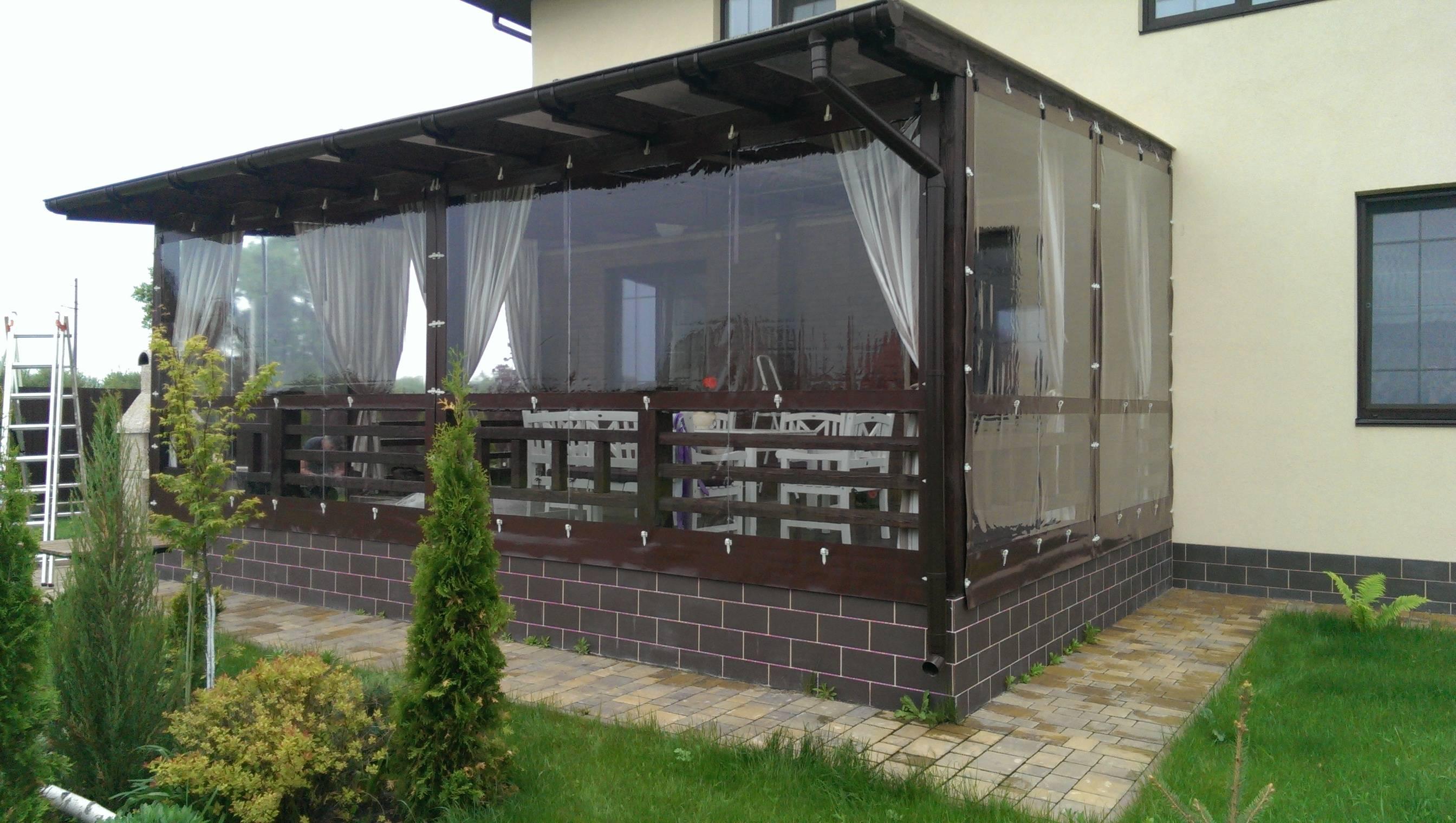 Мягкие окна из пвх для беседок и террас – подробная информация