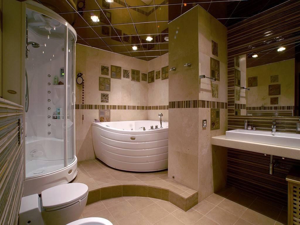 Потолок в ванной: как выбрать, из чего сделать и как оформить красиво (85 фото)