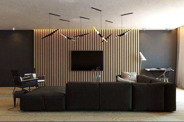 Стильные стены в гостиной: 5 идей декора