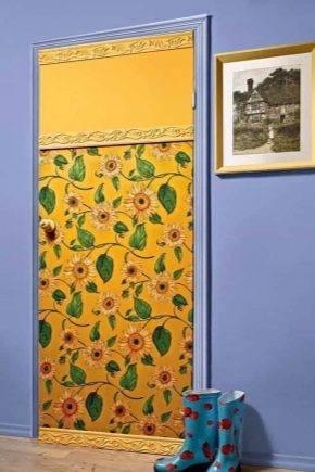 """Как можно декорировать входную или межкомнатную дверь своими руками фото и видео — журнал """"рутвет"""""""