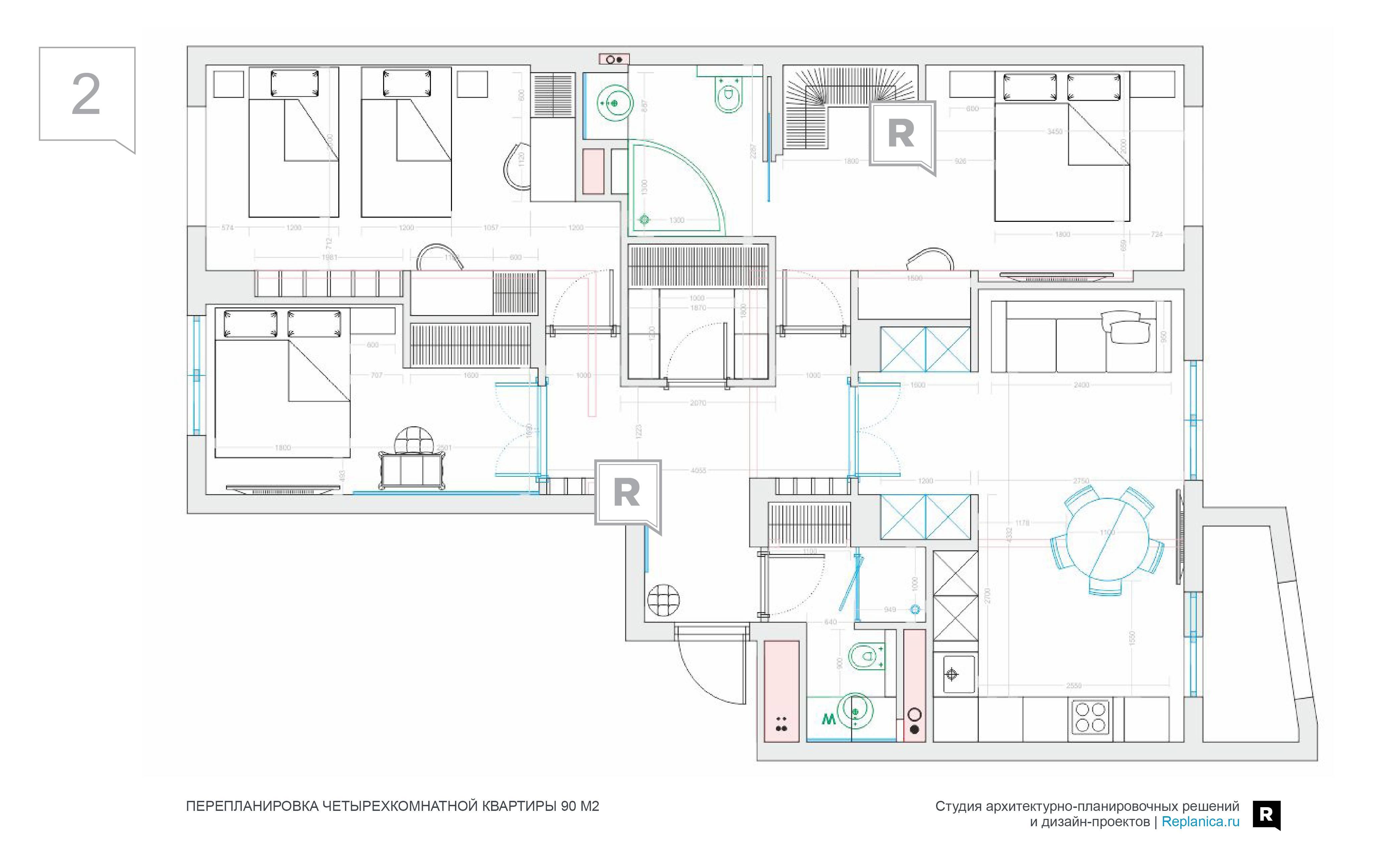 Перепланировка 4 х комнатной квартиры - в хрущевке 504 серии, копэ. возможна ли перепланировка четырехкомнатной квартиры в трехкомнатную?своё