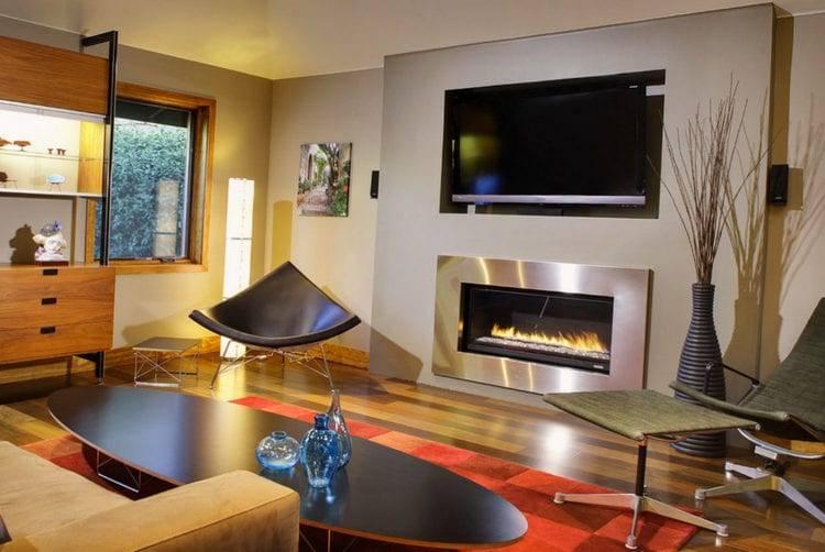 Телевизор над камином: фото в интерьере, можно ли вешать телевизор над камином, отзывы и советы дизайнеров