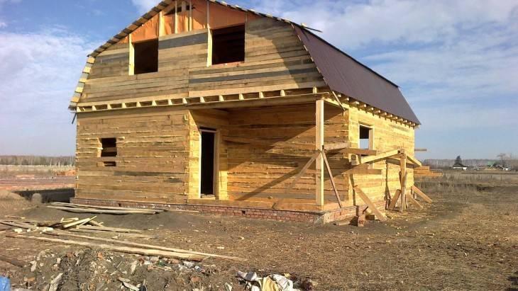 Дом из бруса своими руками: этапы строительства и пошаговая инструкция