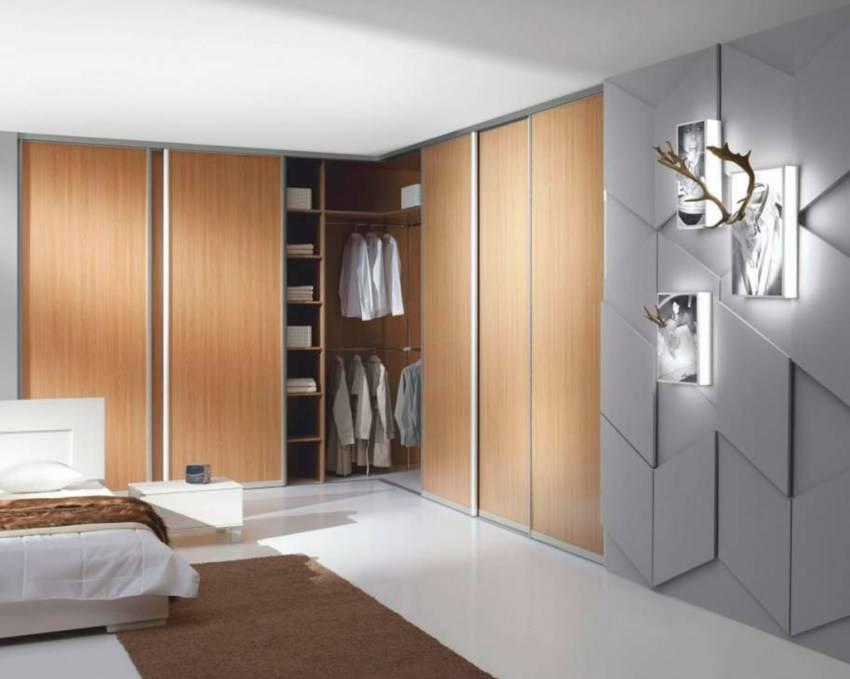 Угловые шкафы в спальню (79 фото): идеи дизайна маленьких встраиваемых гарнитуров и модульных шкафов с зеркалом, чертежи угловых шифоньеров