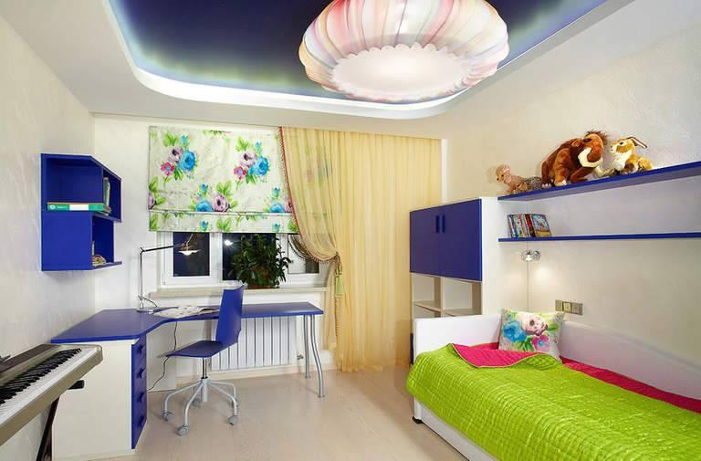 Натяжной потолок для детской комнаты мальчика (46 фото): для детей и подростков
