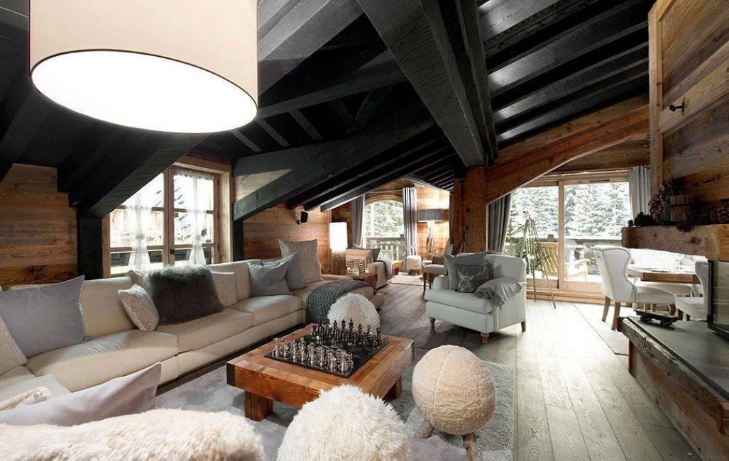 Шале в интерьере: избранные идеи для дома, дачи и квартиры, 60 фото