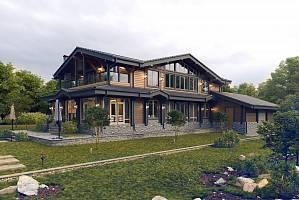 Комбинированные дома из камня и дерева: преимущества проекта и особенности возведения