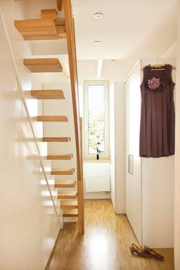 Лестница на мансарду своими руками в условиях ограниченного пространства