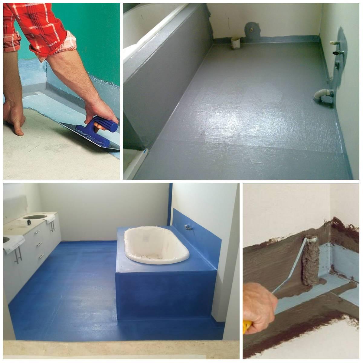 Гидроизоляция ванной комнаты под плитку - что лучше выбрать для гидроизоляции своими руками