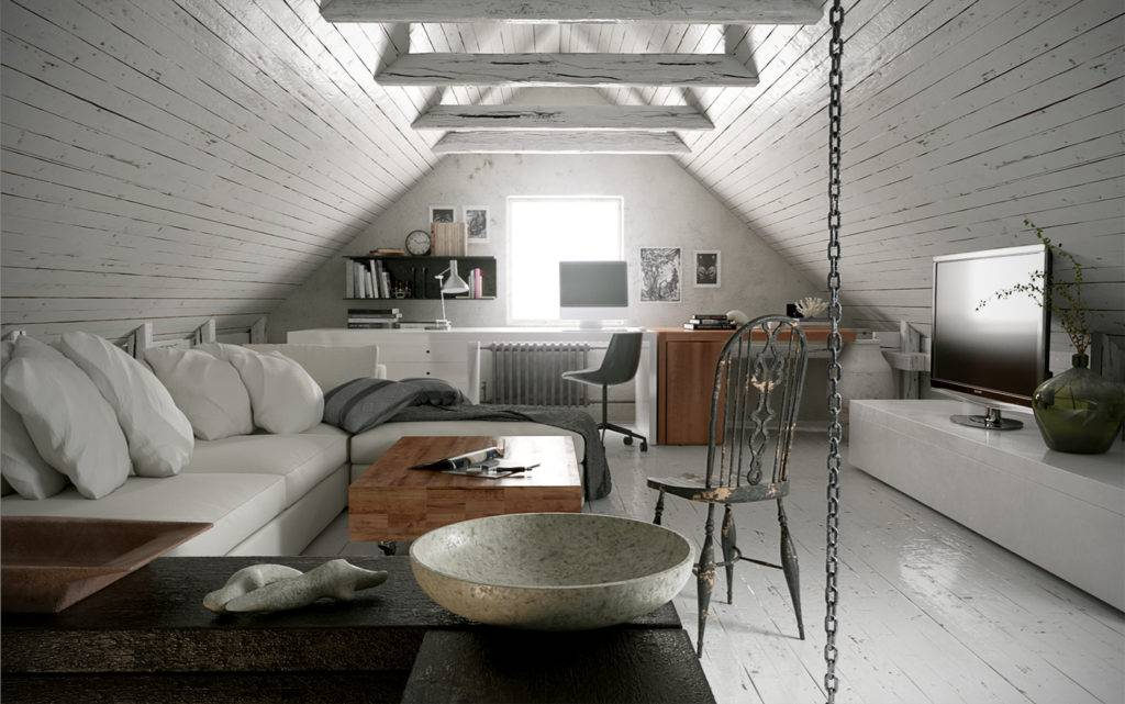Мансардный этаж в доме: 170+ (фото) дизайн и отделка комнат