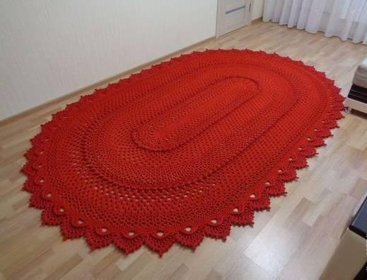 Схемы ковров крючком из шнура и из пакетов с описанием и фото
