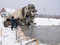 Как правильно заливать бетон при отрицательных температурах