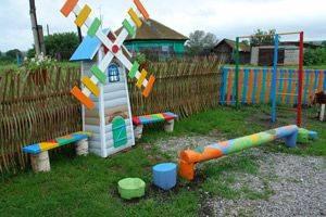 Детская площадка своими руками: пошаговая инструкция как из чего и где построить детскую площадку (125 фото)