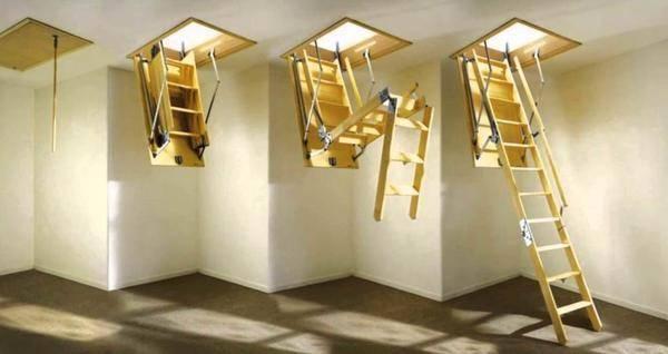 Как установить чердачную лестницу своими руками