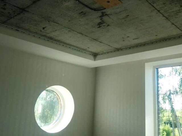 Можно ли крепить натяжной потолок к перегородке из гипсокартона