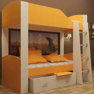 Выбор двухъярусной кровати с диваном — виды, варианты использования