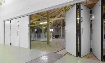 Складные подъемные ворота – цепной привод для ворот «гармошка», вертикальные складывающиеся автоматические конструкции, складчатые и раскладные варианты