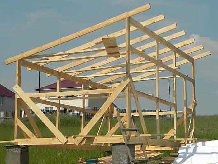 Односкатная крыша своими руками: устройство, конструкция, чертежи