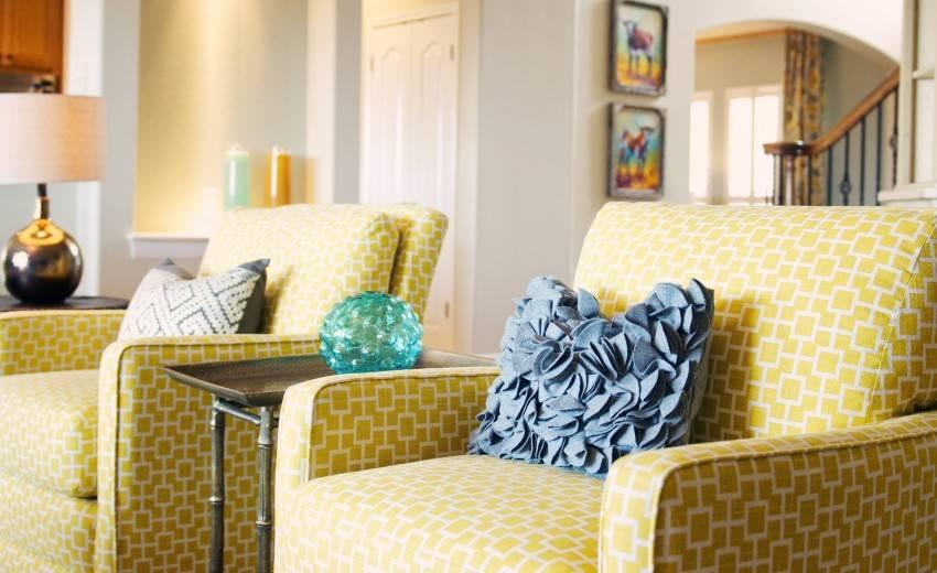 Интерьер в желтых тонах:75 фото использование в дизайне интерьера