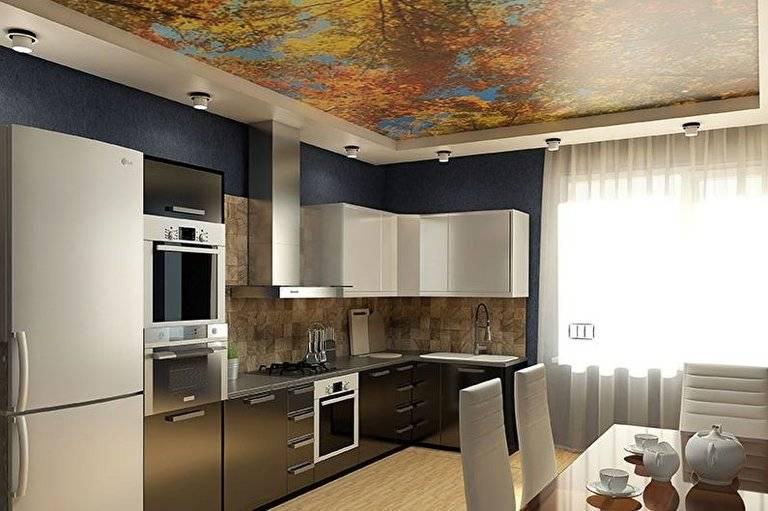 Дизайн натяжных потолков для кухни — 50 фото вариантов — портал о строительстве, ремонте и дизайне