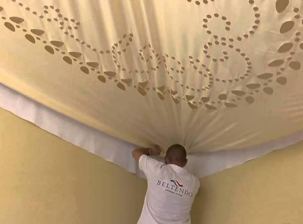 Акустические натяжные потолки - что они собой представляют, основные типы