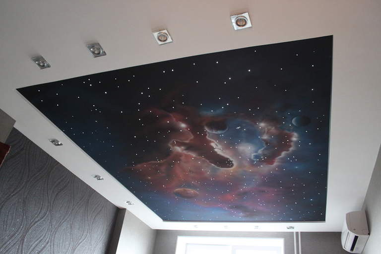 Потолки «звездное небо»: цены за м2 и фото — компания «эколюкс» в волгограде