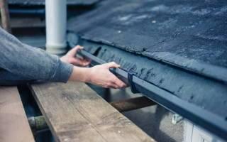 Как установить водостоки на крыше: инструкция