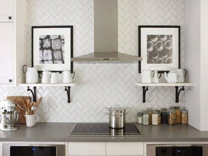 Плитка кабанчик в интерьере: 120+ (фото) для стен, фартука, ванной
