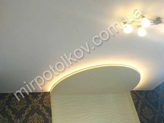 Глянцевый потолок в интерьере с фото