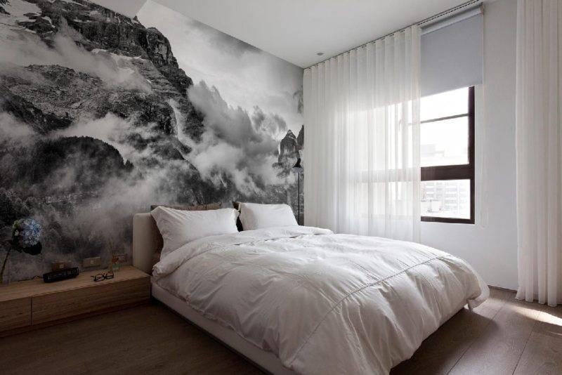 Обои для маленькой спальни: разновидности и рекомендации по подбору