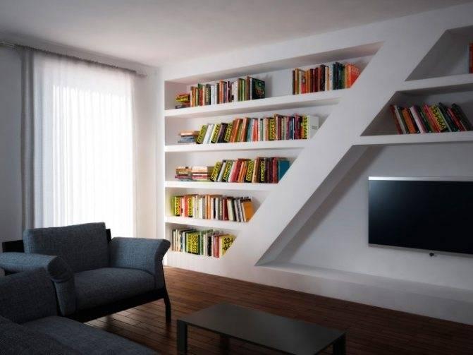 Примеры и фото красивых стен из гипсокартона — дизайн и необычные решения